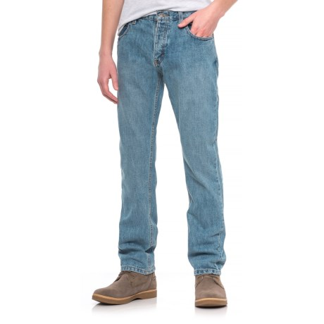 Dickies Regular Fit Button-Fly Jeans (For Men) in Heritage Light Indigo