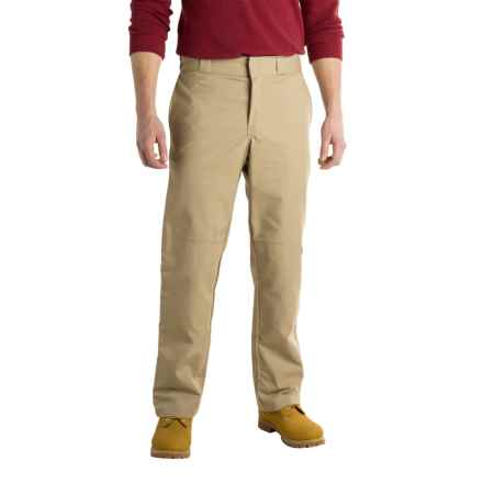 Dickies Regular Fit Double-Knee Work Pants - Straight Leg (For Men) in Desert Sand - Closeouts