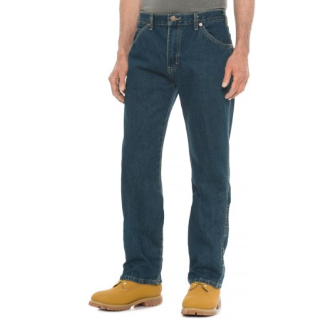 Dickies Regular Fit Six-Pocket Jeans - Straight Leg (For Men) in Tinted Heritage Khaki