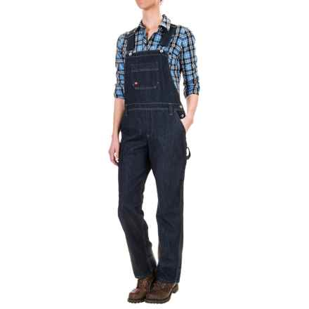 Dickies Relaxed Fit Straight-Leg Bib Overalls (For Women) in Dark Indigo Black - 2nds