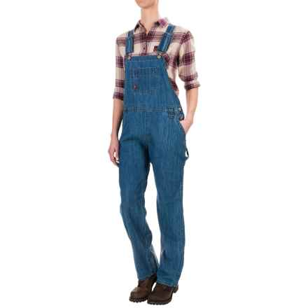 Dickies Relaxed Fit Straight-Leg Bib Overalls (For Women) in Medium Stonewash W/ Bleach - 2nds