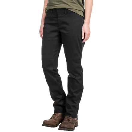 Dickies Relaxed Fit Twill Pants - Straight Leg (For Women) in Black - Closeouts