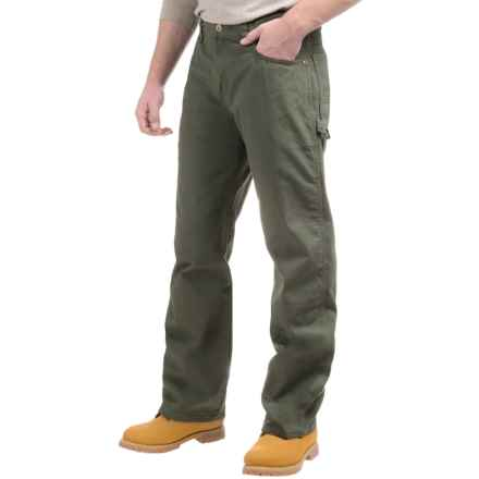 Dickies Ripstop Carpenter Pants - Relaxed Fit, Straight Leg (For Men) in Rinsed Moss Green - Closeouts
