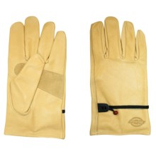 Dickies Saddle Grain Cowhide Driver Gloves - Leather (For Men and Women) in Yellow - Closeouts