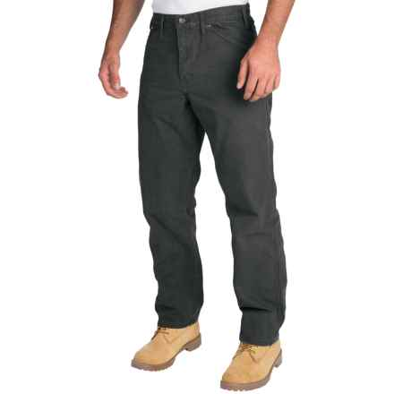 Dickies Sanded Carpenter Pants - Cotton Duck, Relaxed Fit (For Men) in Black - 2nds
