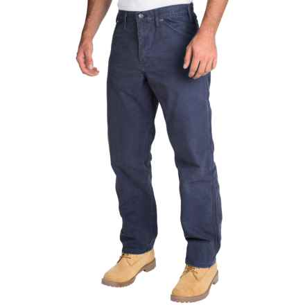 Dickies Sanded Carpenter Pants - Cotton Duck, Relaxed Fit (For Men) in Dark Navy - 2nds