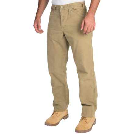 Dickies Sanded Carpenter Pants - Cotton Duck, Relaxed Fit (For Men) in Rinsed Desert Sand - 2nds