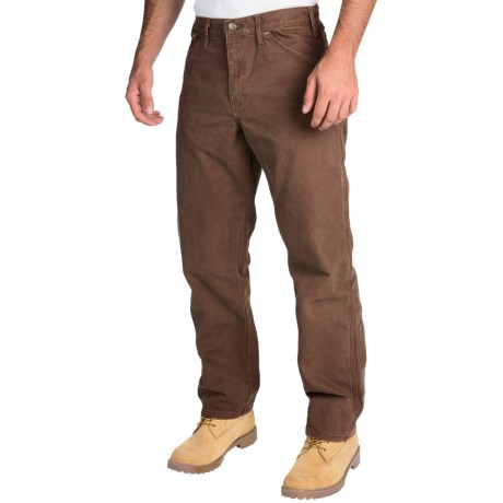 Dickies Sanded Carpenter Pants - Cotton Duck, Relaxed Fit (For Men) in Timber