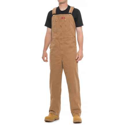Dickies Sanded Duck Bib Overalls (For Men) in Brown - Closeouts