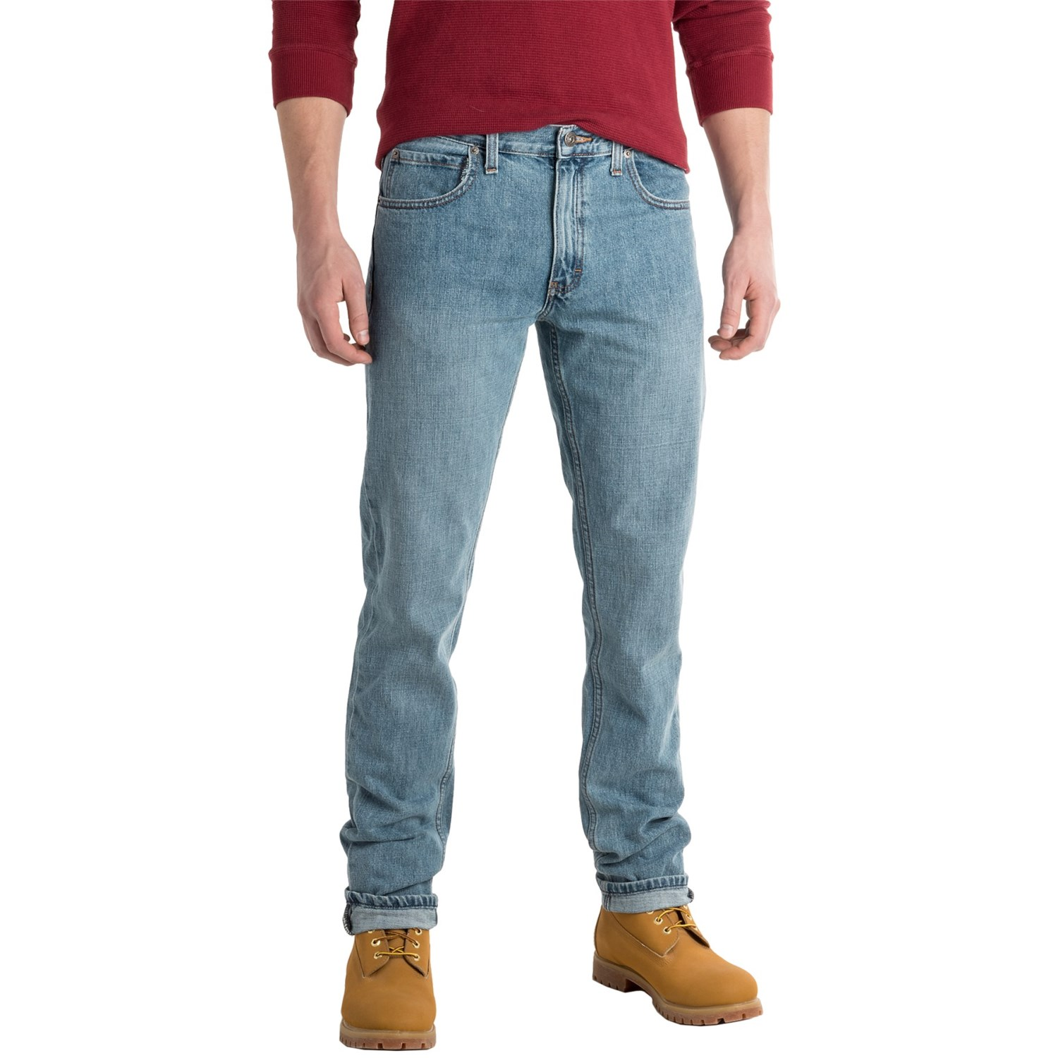 Athletic Skinny Jeans for Men Abercrombie & Fitch's Athletic Skinny jeans for men are the perfect combination of a sleek silhouette and a classic straight fit. Relaxed slim fit in the thigh.