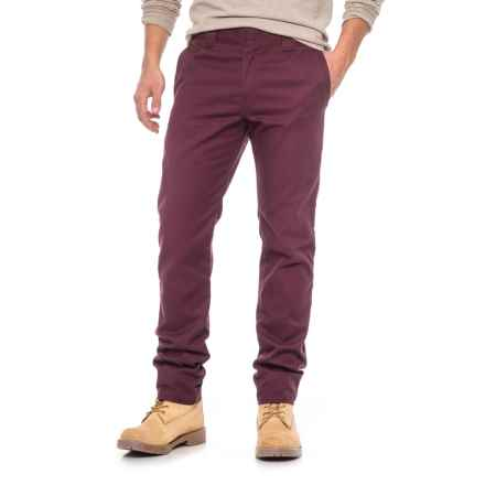 Dickies Slim-Tapered Work Pants (For Men) in Maroon - Closeouts