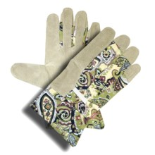 Dickies Split Pigskin Garden Gloves - Leather (For Women) in Paisley - Closeouts