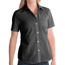 Dickies Stain-Resistant Pocket Work Shirt - Short Sleeve (For Women) in Black - 2nds