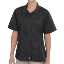 Dickies Stain-Resistant Poplin Work Shirt - Short Sleeve (For Women) in Black - 2nds