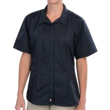 Dickies Stain-Resistant Poplin Work Shirt - Short Sleeve (For Women) in Dark Navy - 2nds