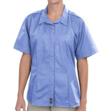 Dickies Stain-Resistant Poplin Work Shirt - Short Sleeve (For Women) in Lapis Blue - 2nds