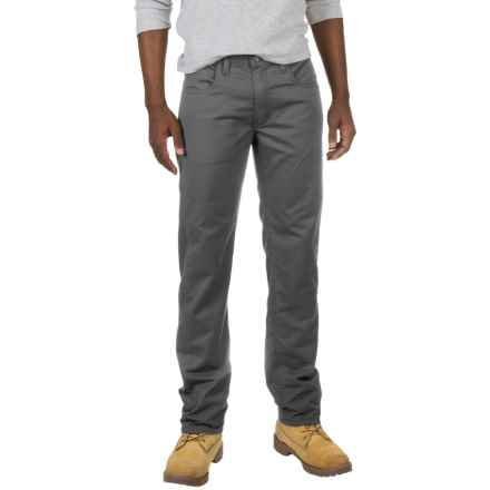 Dickies Straight Flex Twill Pants (For Men and Big Men) in Stonewashed Charcoal - Closeouts