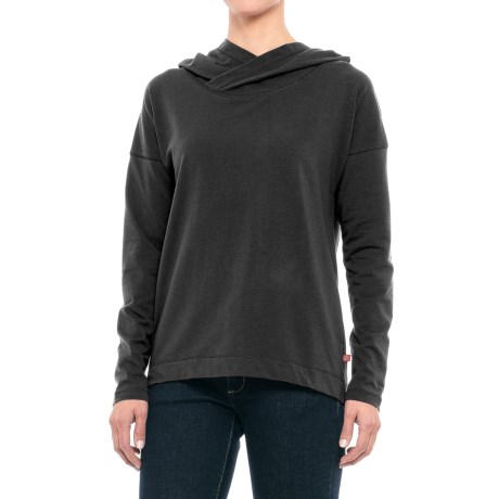 Dickies Stretch Knit Hoodie (For Women) in Black Heather