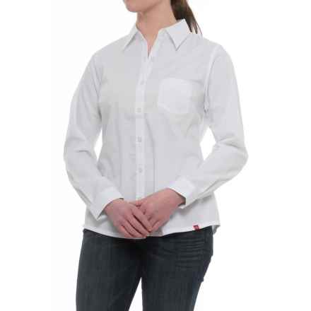 Dickies Stretch Poplin Work Shirt - Long Sleeve (For Women) in White - Closeouts