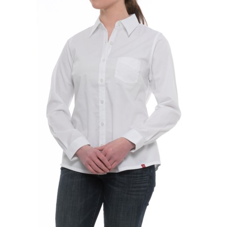 Dickies Stretch Poplin Work Shirt - Long Sleeve (For Women)