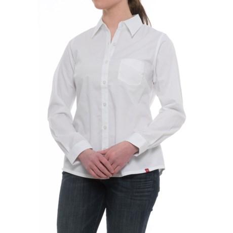 Dickies Stretch Poplin Work Shirt - Long Sleeve (For Women) in White