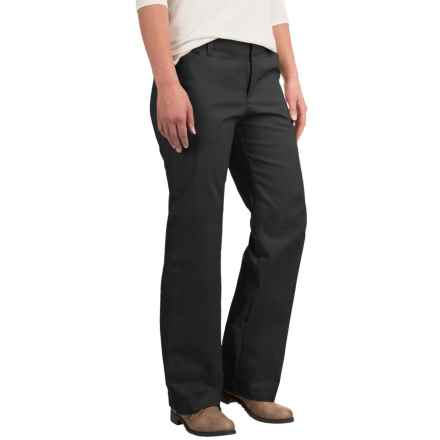 Dickies Stretch Twill Pants - Relaxed Fit, Straight Leg (For Women) in Black - 2nds