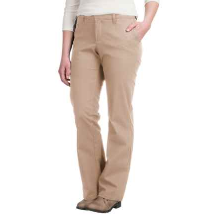 Dickies Stretch-Twill Pants - Slim Fit, Bootcut (For Women) in Desert Sand - 2nds