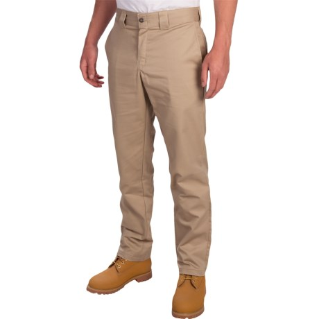 Dickies Stretch Twill Tapered Leg Work Pants - Slim Fit (For Men) in Desert Sand
