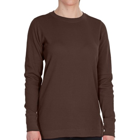 Dickies Thermal Crew Shirt - Long Sleeve (For Women) in Chocolate Brown