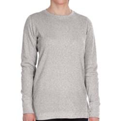 Dickies Thermal Crew Shirt - Long Sleeve (For Women) in Chocolate Brown