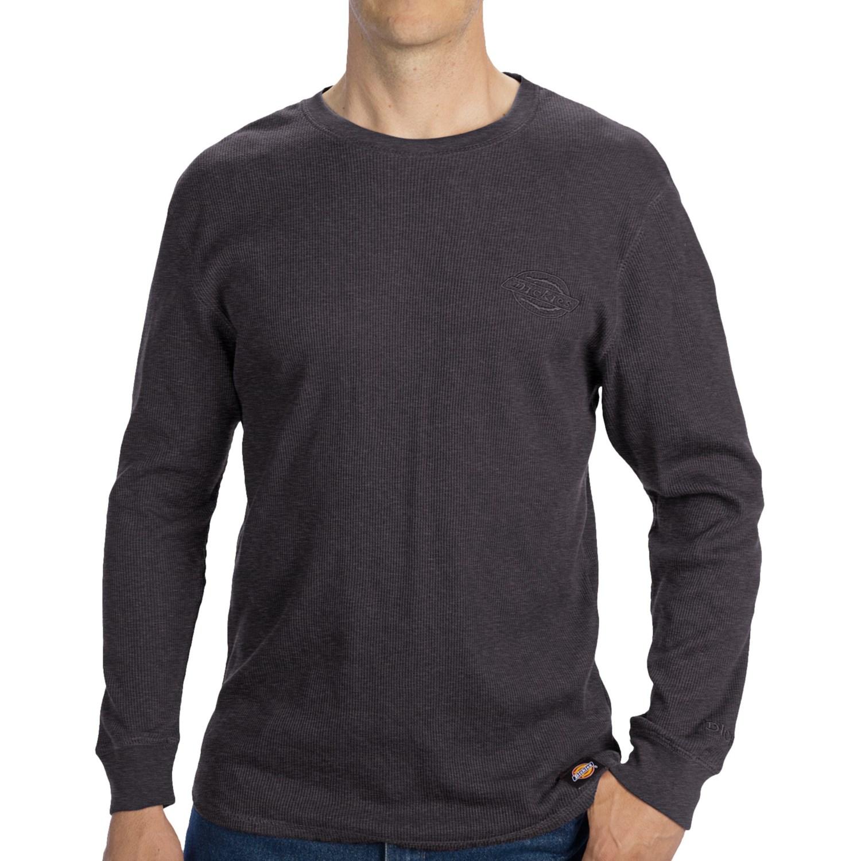 Dickies thermal shirt long sleeve for men save 50 for Mens black thermal t shirts