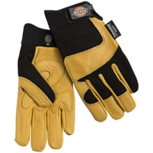Dickies Tough Task Goatskin Gloves - Thinsulate® Lined (For Men and Women) in Yellow/Black - Closeouts