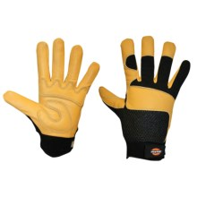Dickies Tough Task Goatskin Leather Palm Gloves (For Men and Women) in Yellow/Black - Closeouts