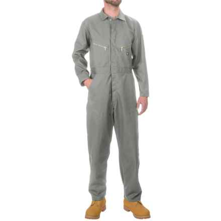 Dickies Twill Coveralls - Cotton-Poly, Long Sleeve (For Men) in Grey - Closeouts