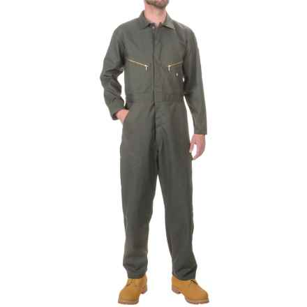 Dickies Twill Coveralls - Cotton-Poly, Long Sleeve (For Men) in Olive Green - Closeouts