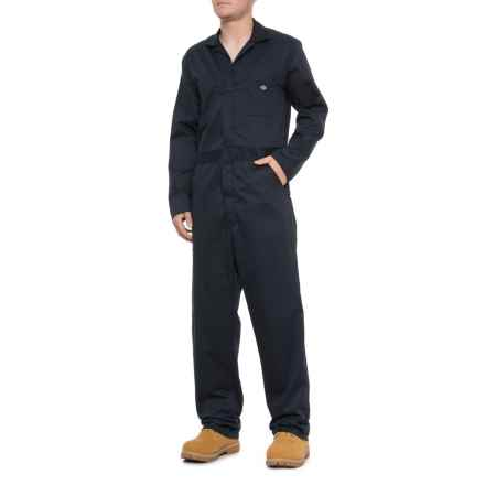Dickies Twill Coveralls - Long Sleeve (For Men) in Dark Navy - 2nds