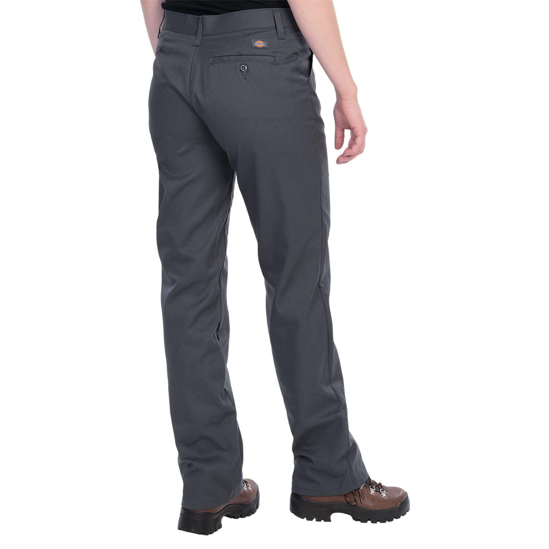 Luxury DICKIES Womenu0026#39;s 5-Pocket Straight Leg Brush Twill Pants Slim Fit