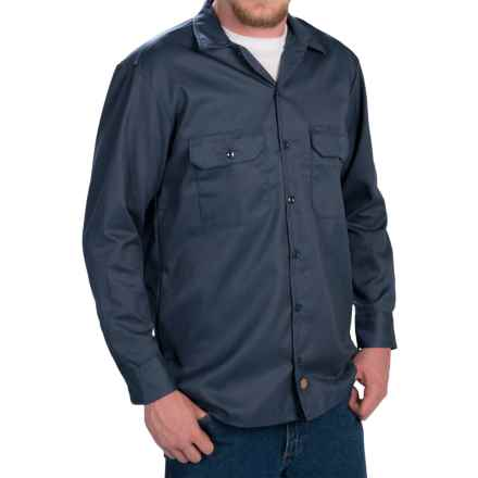Dickies Twill Work Shirt - Long Sleeve (For Men) in Dark Navy - 2nds