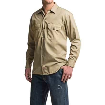 Dickies Twill Work Shirt - Long Sleeve (For Men) in Khaki - 2nds