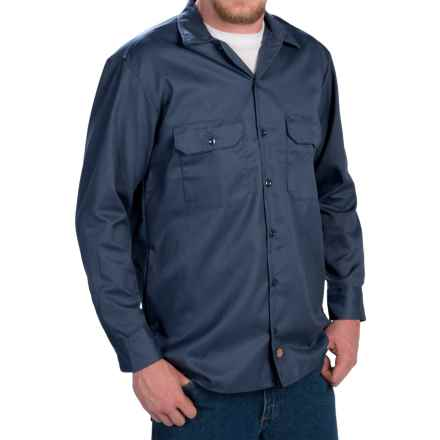 Dickies Twill Work Shirt - Long Sleeve (For Men) in Navy - 2nds