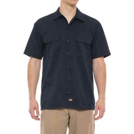 Dickies Twill Work Shirt - Short Sleeve (For Men) in Dark Navy - 2nds