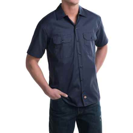 Dickies Twill Work Shirt - Short Sleeve (For Men) in Navy - 2nds