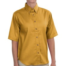 Dickies Twill Work Shirt - Short Sleeve (For Women) in Gold - 2nds