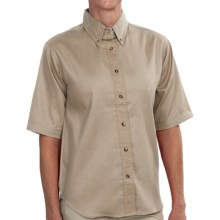 Dickies Twill Work Shirt - Short Sleeve (For Women) in Tan - 2nds