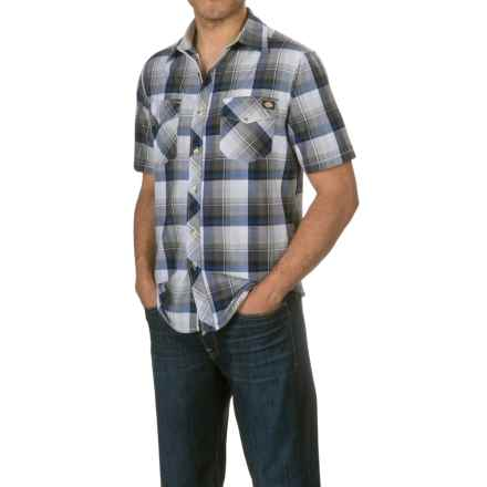 Dickies Two-Pocket Plaid Shirt - Short Sleeve (For Men) in Charcoal/Black - Closeouts