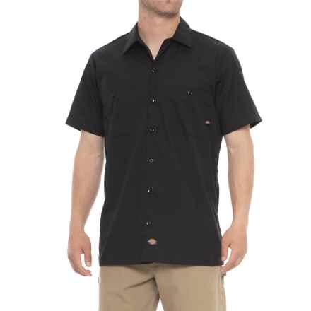 Dickies Two-Pocket Twill Shirt - Short Sleeve (For Men) in Black - 2nds