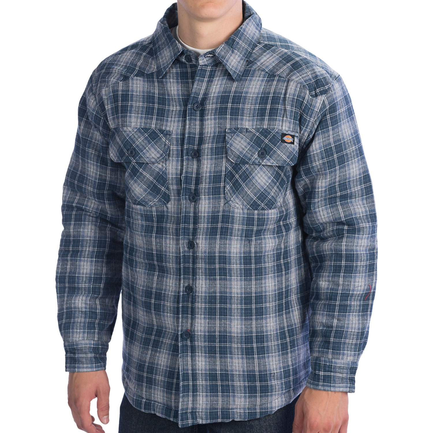 Quilted flannel shirts for men for Mens insulated flannel shirts