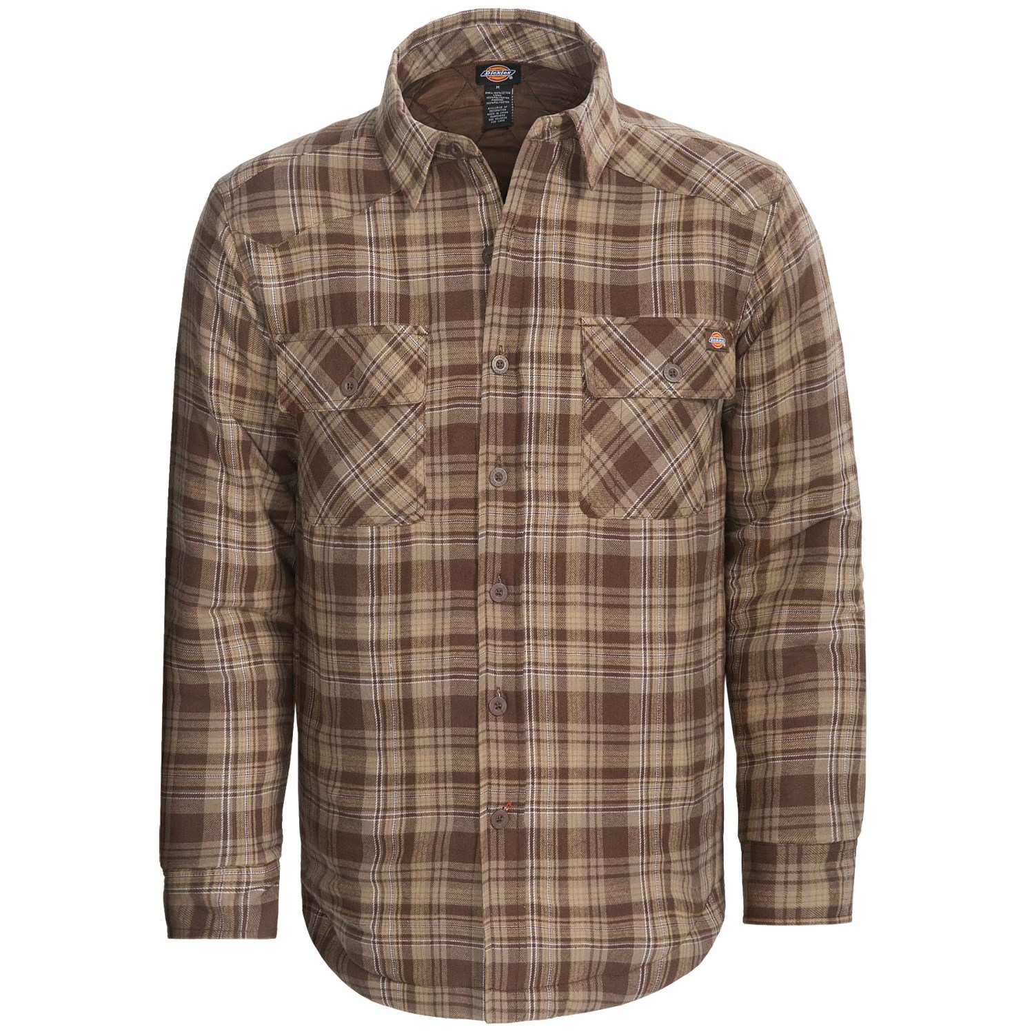 Dickies western flannel shirt insulated quilted lining for Mens insulated flannel shirts