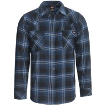 Dickies Western Flannel Shirt -  Long Sleeve (For Young Men) in Navy - Closeouts
