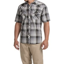 Dickies Western Plaid Shirt - Short Sleeve, Snap Front (For Men) in Smoke - Closeouts